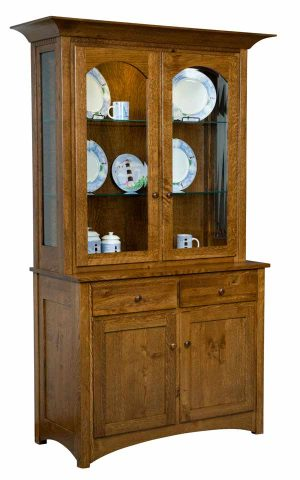 Royal Mission Hutch - 2 Door no inlays - Shown in Rustic QSWO/ Hoosier Special