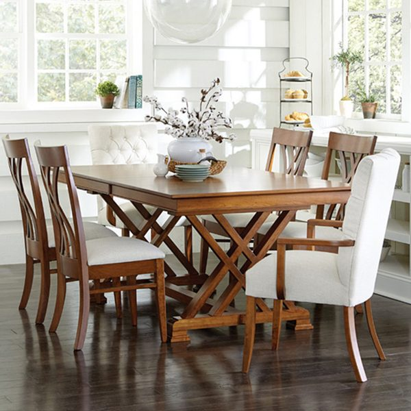 Miraculous Heyerly Trestle Table Beutiful Home Inspiration Xortanetmahrainfo