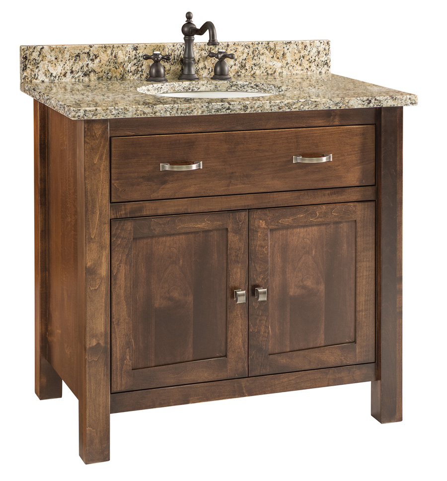 Regal bathroom vanity single bowl with frosted glass doors - Bathroom vanity with frosted glass doors ...