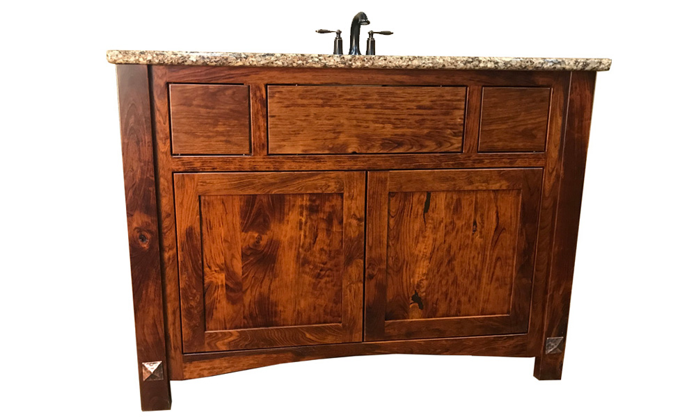 Closeout vanity rustic cherry wood michael 39 s cherry - Bathroom vanity liquidation sale ...