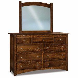 Finland 9 Drawer Dresser w/ Jewelry Drawers 067-1