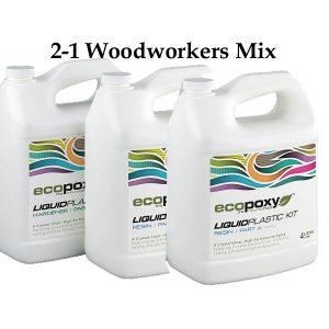 Ecopoxy Liquid Plastic 60L Kit for Woodworkers