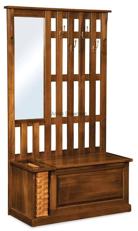 Country Style Amish Furniture Hall Seat