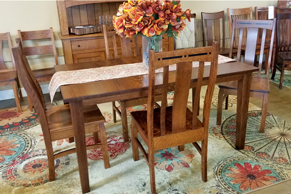 Closeout Table 4 Chairs Set Buy Custom Amish Furniture Amish