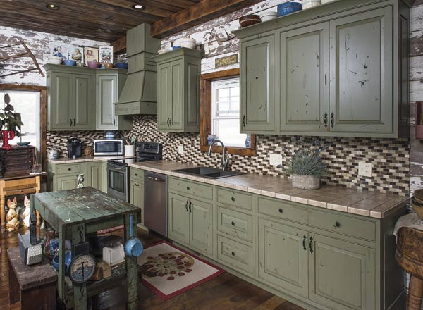 Custom Rustic Kitchen Cabinets Made