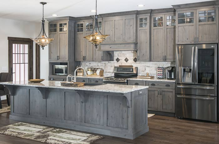 Custom Rustic Kitchen Cabinets Solid